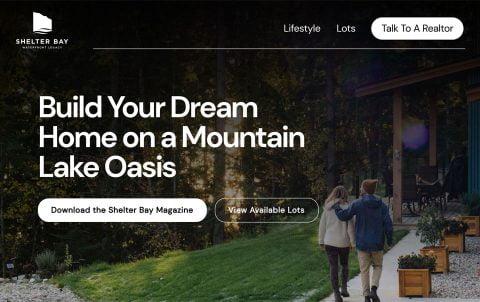 Live at Shelter Bay | Freshworks Web Design